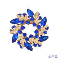 Wholesale Fashion Jewelry Korean high grade diamond brooch crystal brooch scarf buckle dual Redbud Limited promotional