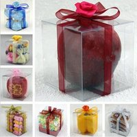 Wholesale AAA Quality x3x3 CM Clear PVC Package Box Square Plastic Containers Gift Box Candy Towel Cake Box