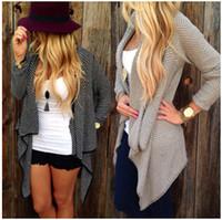 Cheap Knitted Sweater Coat Best Women Waterfall Cardigan