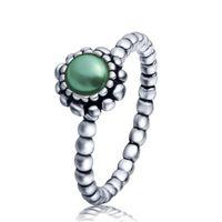 aquarius ring - Wholeasle Sterling Silver Aquarius Birthstone Ring European Fine Jewelry Rings For Women Birthday wedding Anniversary Gift