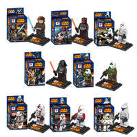 Wholesale New Star Wars Jedi Knight Building Blocks Styles Star Wars Star Soldier DIY Bricks Toys B001