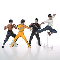 Wholesale BRAND NEW Bruce Lee Kung fu Master PVC quot action figures Gift Toys LC