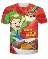 Wholesale psychedelic Lucky Dabs T Shirt Character Cartoon t shirt Unisex Women Men Summer Style Sport tops Fashion Clothing tees tshirt