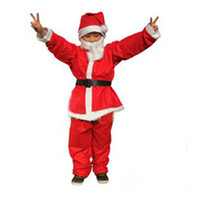 suits for 4 year old boys - Non woven Christmas clothes for children years old boy dressed Santa Claus suit Christmas Gifts