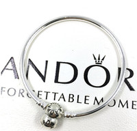 Wholesale New Arrival Crown O style Charm Bangle Sterling Silver Bracelet Fit European Charms Beads CM Length DIY Jewelry
