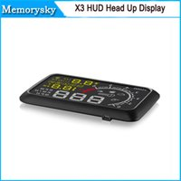 Wholesale X3 quot Car ELM327 Heads up Display Hud OBD II Vehicle Speeding Warning MPH with Anti slip Pad in stock