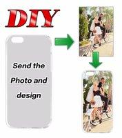 achat en gros de apple photo 3d-Ajouter logo personnalisé Imprimer étuis de couverture entreprise image logo photo dessin animé 3D sur mesure DIY Art personnalisé pour iPhone 5 5s 6 6s plus 7 PLUS