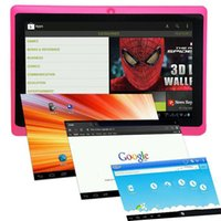 Wholesale 7 inch Q88 Allwinner A33 Quad Core MB GB Tablet Android Kids Tablet PC Dual camera WIFI