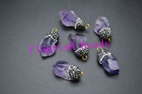 amethyst nugget beads - Freeform Natural Amethyst Nugget Beads Pendant Oustanding Design Small Size About MM Fit Necklace Jewelry Handmade pc