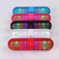 Wholesale New BT808L Speaker Wireless Mini Bluetooth Speaker LED light Hands free supports Bluetooth speaker for iphone samsung S6 Shipped By DHL A