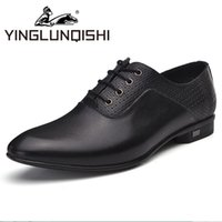 band gigs - New Oxfords Shoes For Men Genuine Leather Men Shoes Summer Breathable Lace up Formal Dress Shoes Black Gig Size