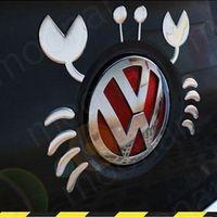 Wholesale Car Styling Reflective Flame Bonnet Bumper Stickers Cute Crab Logo Badge Emblem Car D Crystal Decal Sticker Silver YL HM044 S1