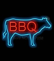 barbeque lights - BBQ with Cow Barbeque Shop Neon Light Sign Display BAR Pub Club signage Nikke Air Jorrdan Neon Sign GlassTube Handicraft