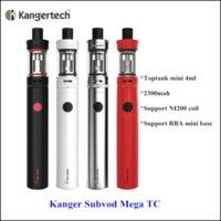 battery mega store - Kanger Online Store Original Subvod Mega TC Kit with mAh Subvod Mega Battery ML Toptank Mini Atomizer Kangertech Subvod Plus Starter