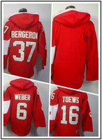 Cheap Free Ship 2014 Olympic Winter Ice Hockey Jersey #6 Weber #16 Towes #37 Bergeron Red Hooded Sweatshirt Jerseys