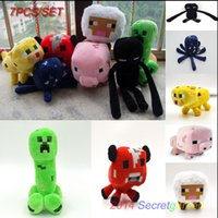 Wholesale New creative Minecraft Creeper toys Minecraft Enderman Creeper Pig Animal Plush Toy Doll Kids Xmas Gift DDD567