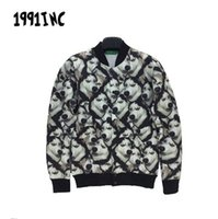 baseball jokes - 2015 New animal printed Jokes full covered with small husky dogs d jacket lovers winter autumn coat baseball jacket
