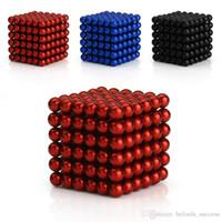 al por mayor separador de metal de 5 mm-5mm Colorido 216 bolas de neodimio Bucky bolas Neo cubo mágico cubo rompecabezas magnético bolas espaciador esferas cuentas + caja de regalo