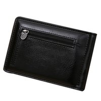 Wholesale Hot Salw Best seller Mini Zipper Leather Credit Card ID Coin Holder Money Clip Wallet
