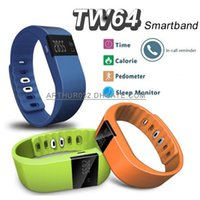 apple bangle - New Waterproof Bluetooth TW64 Smart Wrist Watch Bracelet Bangle Anti Lost Wristband Sleep Tracker Call Reminder Remote for IOS Android phone