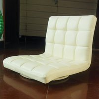 leather furniture - Leather Chair Floor Seating Degree Rotation Living Room Furniture Beige Color Tatami Meditation Leather Floor Zaisu Chair