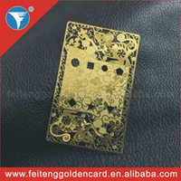 Wholesale high quality customized metal business card gold supplier