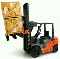 toy crane - 2015 Silualition Forklift Hoisting Crane Car Model ABS Plastic Transport Vehicle Model Car Toy for Children