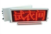 advertising programs - Red LED scrolling sign message display board desk panel advertising program rechargeable door window mini led advertising panel