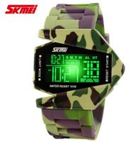 airplane led lights - LED Colorful Light Children Digital Watches Airplane Shaped Kids Sports Watch ATM Waterproof Student Wristwatches