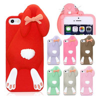 rabbits for sale - Hot Sale Lovely Milan Bunny Rabbit Rubber Soft Silicone Gel Case phone Cover for iphone S S iphone5 buck teeth rabbit Shell Dropship