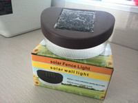 Wholesale Upgrade Solar Power Panel LED Fence Gutter Light Outdoor solar garden light Wall Lobby Pathway Lamp