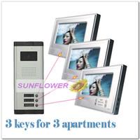 video door entry system - Door bell video door entry system door phone intercom system inch color screens keys cameras for apartments