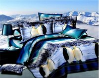 Wholesale Penguin quilt covers D bedding set duvet full queen size double bedspread sheets bed in a bag bedroom linen bedsheet bedclothes