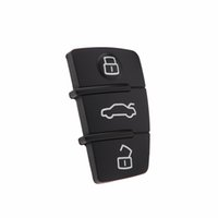 alarm key pads - New Replacement Button Remote Car Key Fob Rubber Remote Key Push Pad for Audi Buttons Car Cover Interior Styling