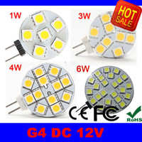 Wholesale DC V G4 W W W W W Home Car RV Marine Boat LED Light Bulb Lamp G4 leds leds leds leds SMD V LED Bulbs