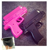Wholesale Cool Cover Cases 4s - Fashion 3D Cool Handgun Pistol Gun Toy Case For iPhone 4 4s New Plastic PC Hard Gun Case Cover For iPhone 4 4s Free shipping