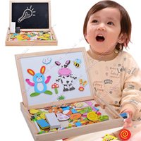 Wholesale 2015 New Children kids Easel Magnetic Doodle Fantastic Wooden Drawing Blackboard Toy Taste Panel puzzle toys SV017410