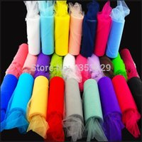 tulle spool - Width quot x yards Multicolored Nylon Fabric Tulle Roll Soft Tulle Spool Tutu Wedding Decorations