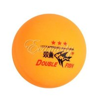 Wholesale Yellow ITTF Approved Stars Ping Pong Ball Table tennis ball mm for Table Tennis Match Game Double Fish