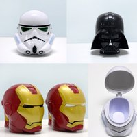 white mugs - Star War Stormtrooper darth vader Super Heroes Iron Man of Helmet Mug Cup Shaped Coffee Mugs Plastic Water Cup Coffee Cup MC