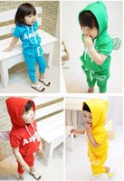 baby wings - DHL free sent New style baby boy girl Angel wings sports suits sets hoodies pants in stock