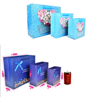 Wholesale Sizes Top Quality Romantic Paper Gift Bag New Fashion Reusable Eco Friendly Shopping Tote Bag Pouch