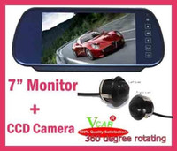 Wholesale quot TFT Color LCD Car Rearview Mirror Monitorv degrees eyeball Reverse CCD Camera