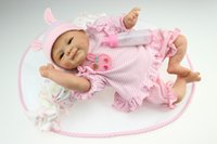 "Cheap 18""45cm reborn baby doll soft silicone vinyl gentle touch newborn 18NPK7011Q"