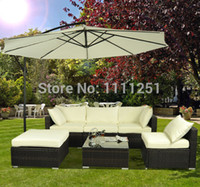 garden furniture - 2014 Outdoor Rattan Sofa Wicker Sectional Patio Garden Furniture set ships free