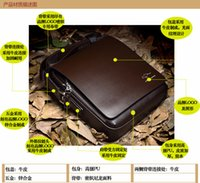 Wholesale Brand Designer Men s Genuine Leather Handbag Black Brown Briefcase Laptop Shoulder Bag Messenger Bag fashion