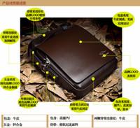 Wholesale Brand Designer Men s Genuine Leather Handbag Black Brown Briefcase Laptop Shoulder Bag Messenger Bag fashion