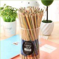 Wholesale 8 in rainbow colored pencil drawing color pencils for drawing pens sationery material escolar school supplies