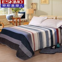 Wholesale 11 ESKIMO Coral Velvet Sheets Double Bed Linen Brand Queen King Size Bed sheet Bedspread NEW YEAR