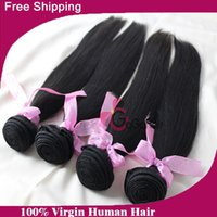 "Cheap 6A Unprocessed Length8""-30"" 4pcs lot Peruvian Virgin Hair Straight Human Hair Weft Can Be Dyed And Bleached Free Shipping"
